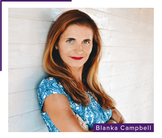 Blanka Cambpell Profile Photo with purple highlight